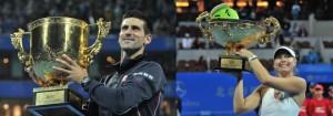 Tenis: Novak Djokovic şi Maria Șarapova au câştigat turneul de la Beijing