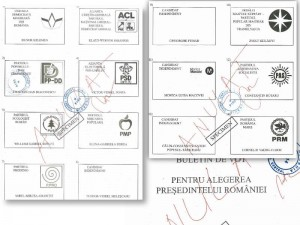 Cum arată buletinul de vot pentru alegerile prezidențiale.