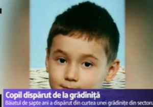 Un copil dispărut de la grădiniță. (foto: Digi24)