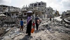 SUA cere Israelului sǎ participe la reconstrucția Fȃșiei Gaza (foto:en.alalam.ir)