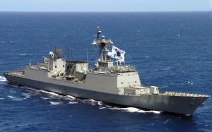 Nave aparținȃnd celor douǎ Corei implicate ȋntr-un schimb de focuri ȋn Marea Galbenǎ (foto:daum.net)