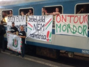 Romȃnia – Ungaria: Ce incidente au provocat suporterii maghiari (foto: mondonews.ro)