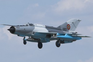 Un MiG-21 LanceR şi-a pierdut rezervoarele
