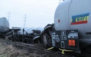 Vagon cisternă, deraiat în județul Sălaj.