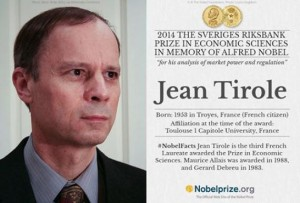Jean Tirol, laureat al premiului Nobel pentru Economie.