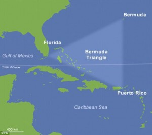 """Cum ar putea fi explicat """"Triunghiul Bermudelor""""."""
