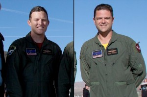 Pilot Peter Siebold (R) and co-pilot Michael Alsbury (L)