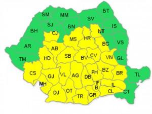 avertizare meteo harta 1 decembrie
