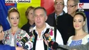 Cum a venit îmbrăcat Gheorghe Funar să voteze