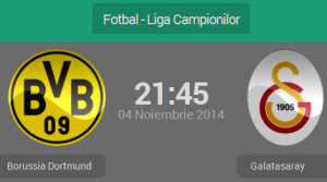 UEFA Champions League, grupa D: Borussia Dortmund – Galatasaray (live video)