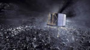 Philae - Operațiunea de forare a cometei a început (foto:spacefightnow.com)