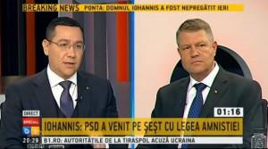 A doua DEZBATERE Ponta – Iohannis. Cele mai importante declaraţii