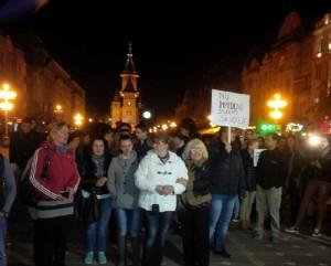 Timișoara: Protest privind modul de desfășurare al votului (foto:opiniatimisoarei.ro)