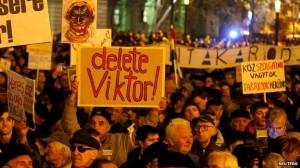 """Ungaria – """"Ziua Indignării"""": Proteste anti-Orban la Budapesta (foto:bbc.co.uk)"""