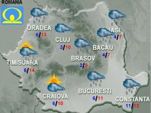 vremea meteo 17 noiembrie