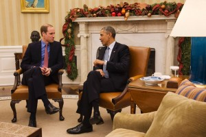 Barack Obama, l-a primit luni în Biroul Oval pentru prima dată pe Prințul William