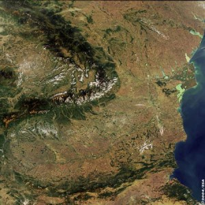 romania carpati satelit