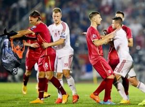 Preliminarii Euro 2016. Ce decizie a luat UEFA în cazul Serbia - Albania (foto:independent.mk)