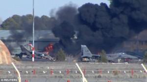 Un avion de luptă F-16 grec a ucis cel puţin 10 persoane în Spania