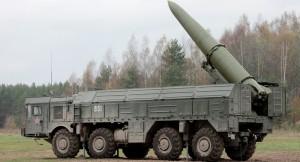 Iskander-M este un sistem de rachete cu rază scurtă de acţiune. Rachetele au o rază de acţiune de 400 de kilometri şi pot fi înarmate atât cu focoase convenţionale, cât şi nucleare.