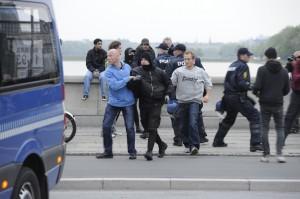 politia daneza romani arestati