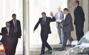 Tony Blair in vizita la Ponta, la Palatul Victoria
