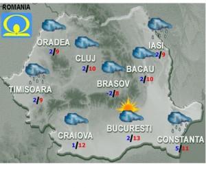 vremea vineri 13 martie 2015