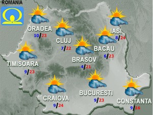 vremea meteo prognoza 25 aprilie