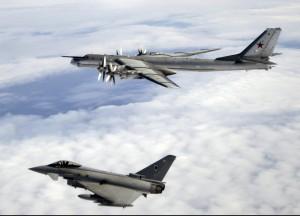 Typhoon-ul interceptează bombardierele rusești Tu-95 Bear