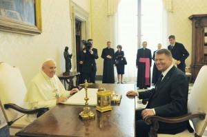 iohannis si papa francisc