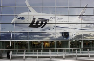 Polish airline LOT in Warsaw