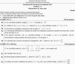Subiecte BACALAUREAT 2015 – matematica / istorie potrivit edu.ro