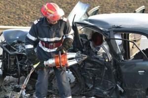 Accident grav pe DN 1 la Bologa (Cluj). 2 morţi şi 5 răniţi
