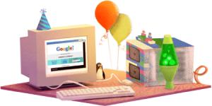 Aniversarea Google. Google aniversează 17 ani
