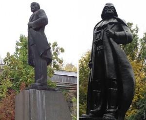 Darth Vader lenin statuie