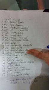 Lista raniti Club Colectiv la spitalul Muncipal (sursa Facebook)