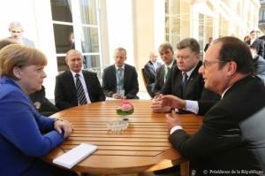 Ce au discutat Hollande, Merkel şi cu Putin