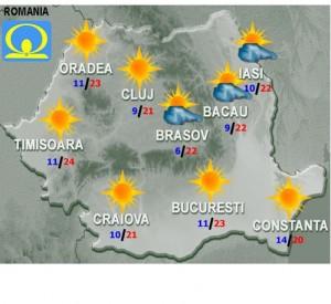 vremea meteo sambata 3 octombrie