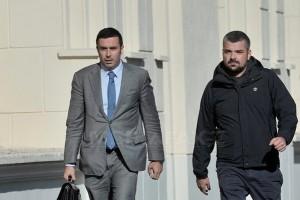 Costin Mincu, acționar la Colectiv, (dreapta), impreuna cu avocatul