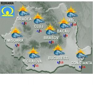 meteo prognoza vremea 23 noiembrie 2015