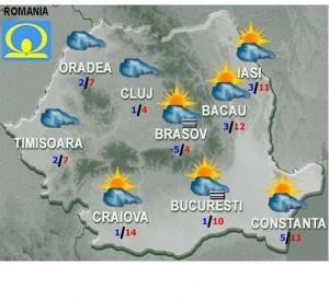 meteo vremea prognoza luni 7 decembrie 2015