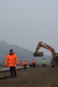 Lucrari la suprastructura de pod