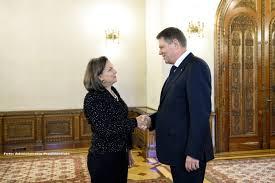 Președintele Klaus Iohannis o primește, luni, la ora 14,00, la Palatul Cotroceni, pe Victoria Nuland