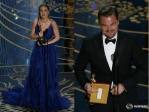 Brie Larson si Leonardo DiCaprio
