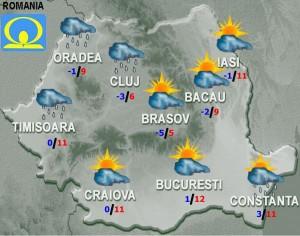 prognoza meteo vremea joi 11 februarie