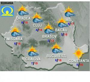 vremea meteo prognoza luni 22 februarie 2016