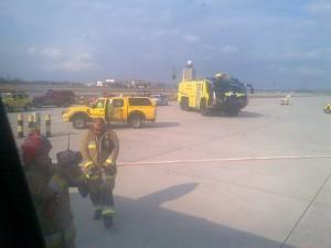 avion tarom budapesta motor foc