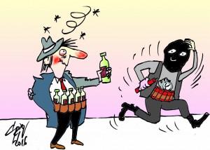 caricatura terorist