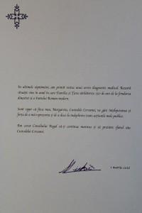scrisoare rege mihai