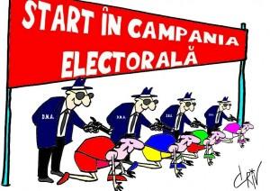 Start în campania electorală caricaturi 2